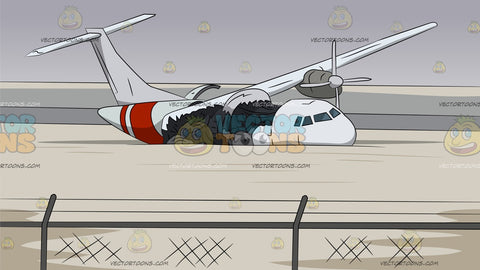 Commercial Plane Crash Site Background