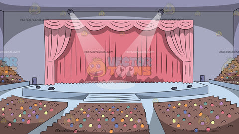 Concert Hall Theater Stage Background