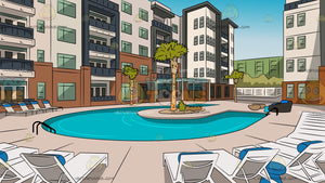 Condominium Private Pool Background
