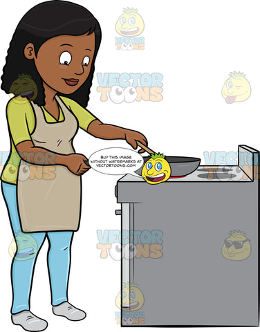 A Black Woman Sautéing Several Ingredients On A Pan