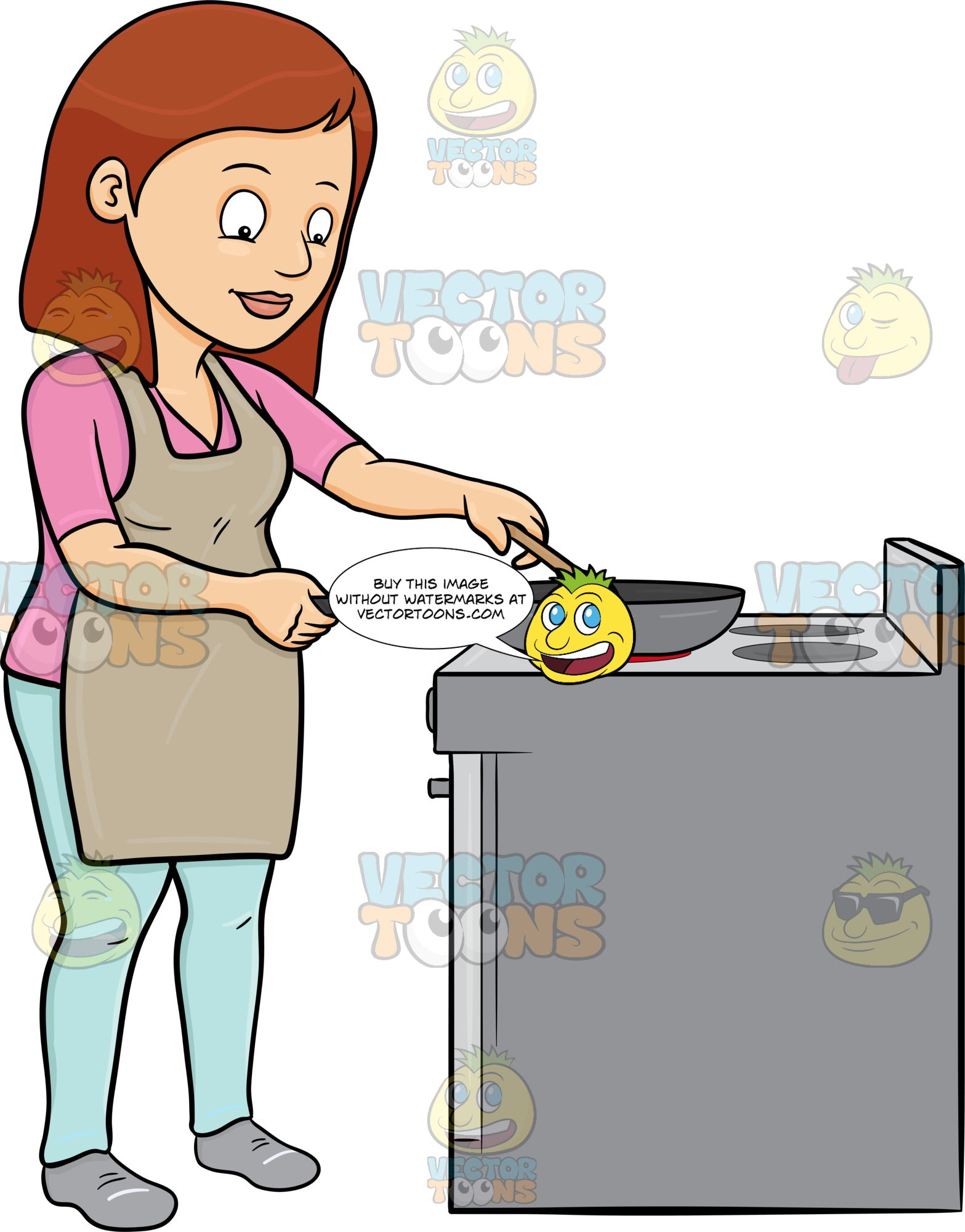 A Woman Sauteing Several Ingredients In A Pan