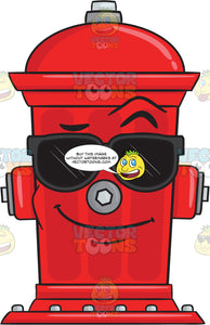 Cool Looking Fire Hydrant Wearing Sunglasses Emoji