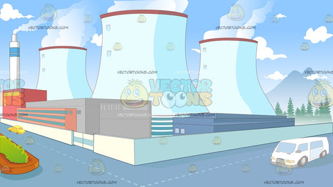 Corner Of A Nuclear Power Plant Background