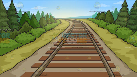 Country Railway Tracks Background