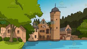 Countryside Castle Background