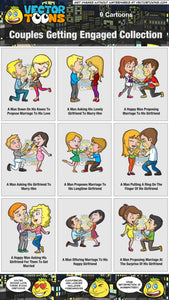 Couples Getting Engaged Collection
