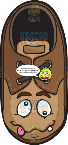 Crazy Looney Brown Shoe Emoji