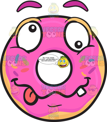 Crazy Looney Donut Emoji