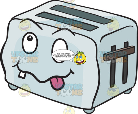 Crazy Looney Pop Up Toaster Emoji