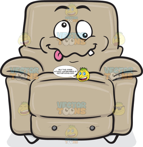 Crazy Looney Stuffed Chair Emoji