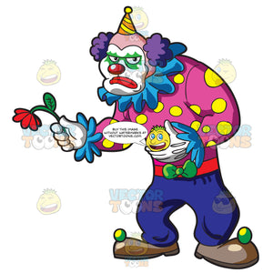 A Sad Muscular Clown