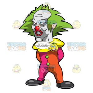 A Scary Looking Short Clown
