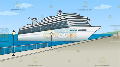 Cruise Ship Port Background