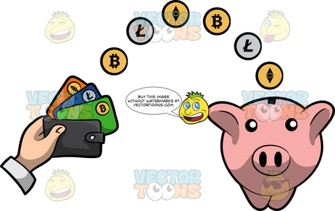 A Bitcoin Wallet Transferring The Currency Into Savings