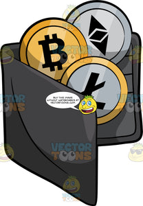 A Bitcoin Wallet Filled With Different Cryptocurrencies