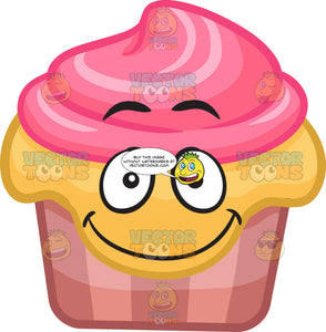 A Smiling Party Cupcake