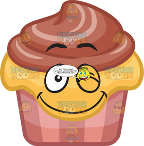 A Winking Party Cupcake