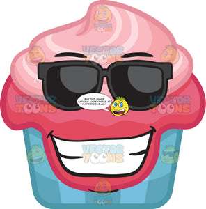 A Excited Party Cupcake With Shades