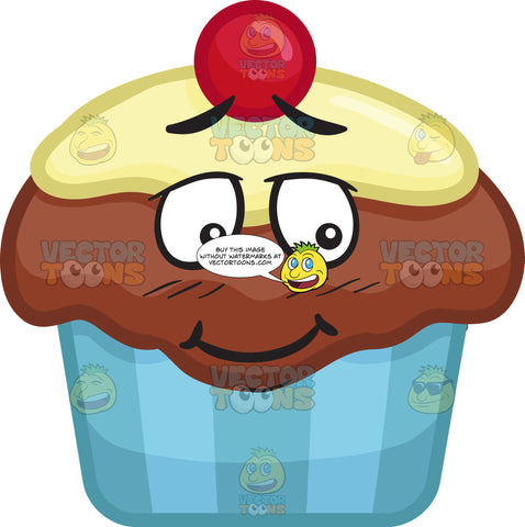 A Bashful Party Cupcake
