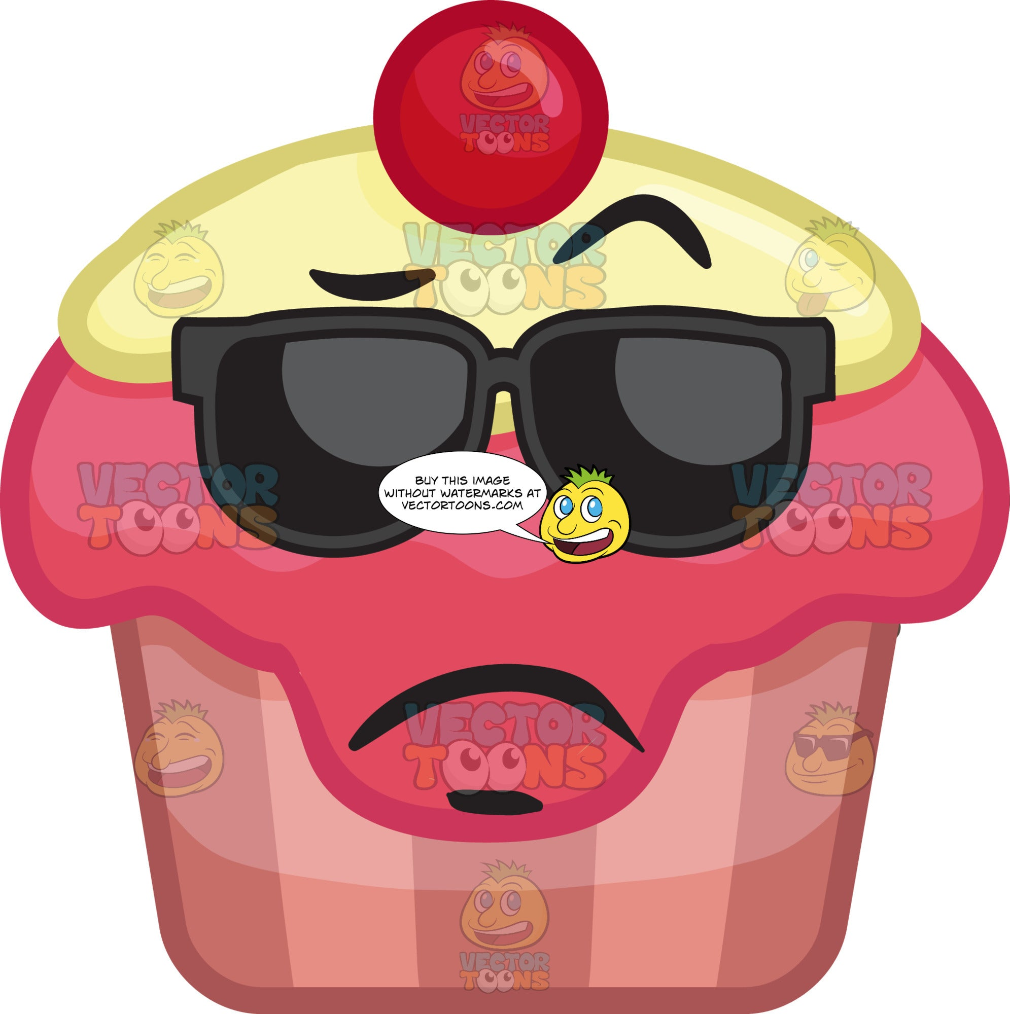 A Lonely Party Cupcake With Shades