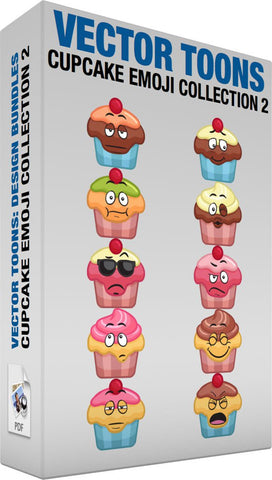 Cupcake Emoji Collection 2