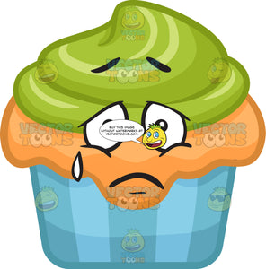 A Sad Looking Party Cupcake