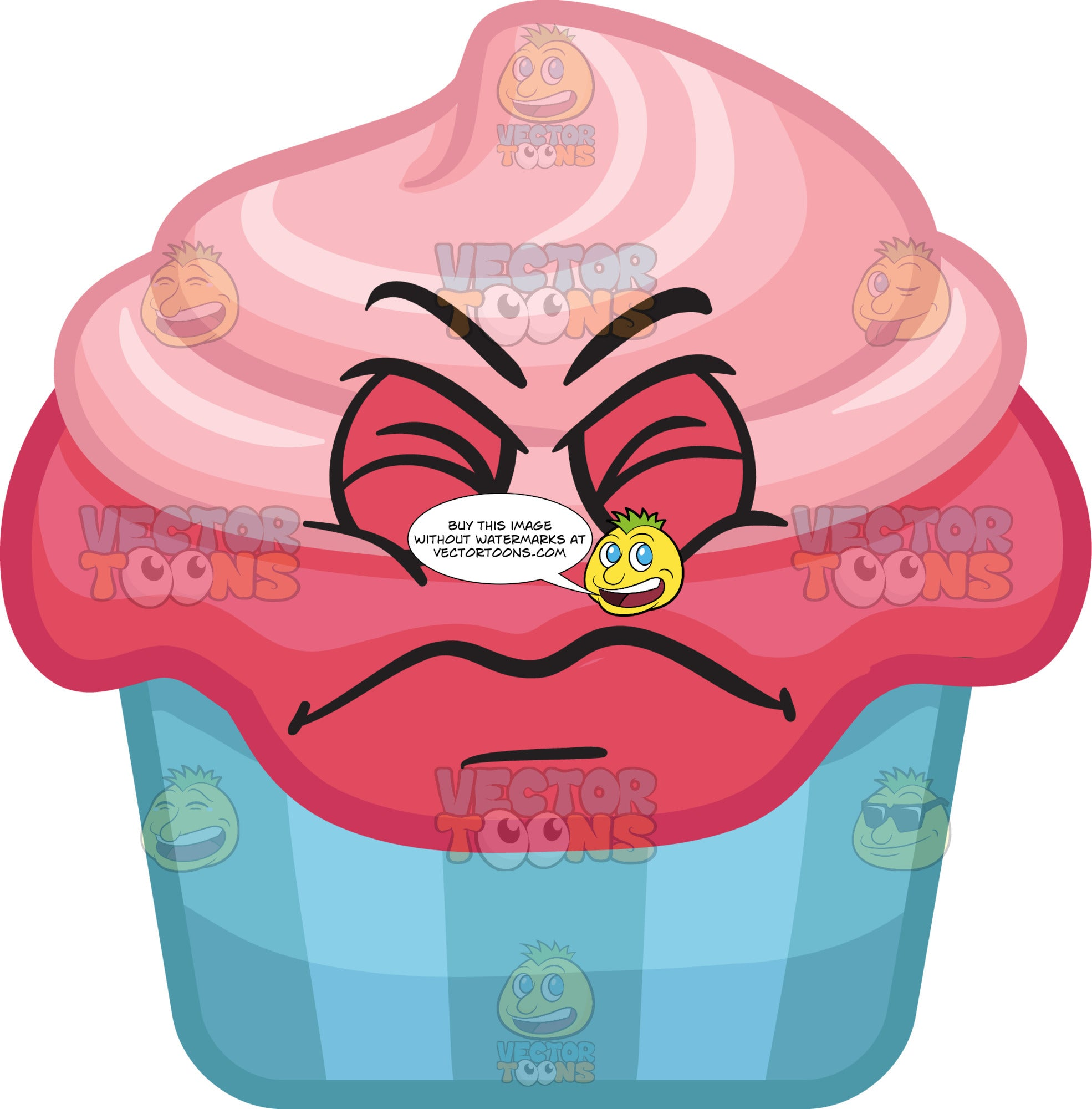 An Irritated Party Cupcake