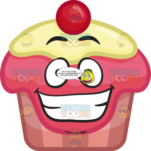A Grinning Party Cupcake