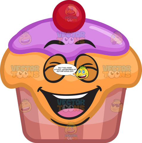A Laughing Party Cupcake