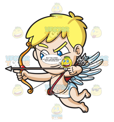Cupid Aiming For A Love Target