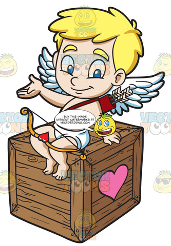 Cupid Sitting On A Love Box