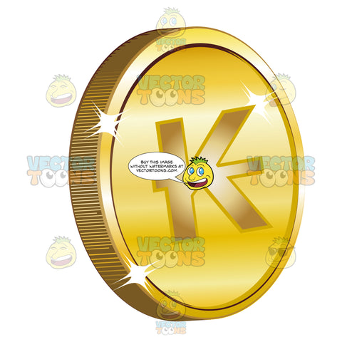 Lao Kip On Gold Coin Currency