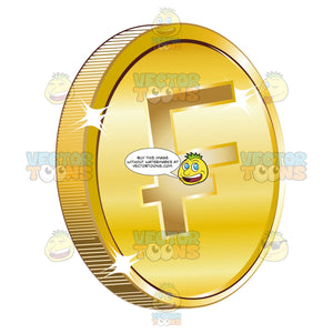 French Franc On Gold Coin Currency