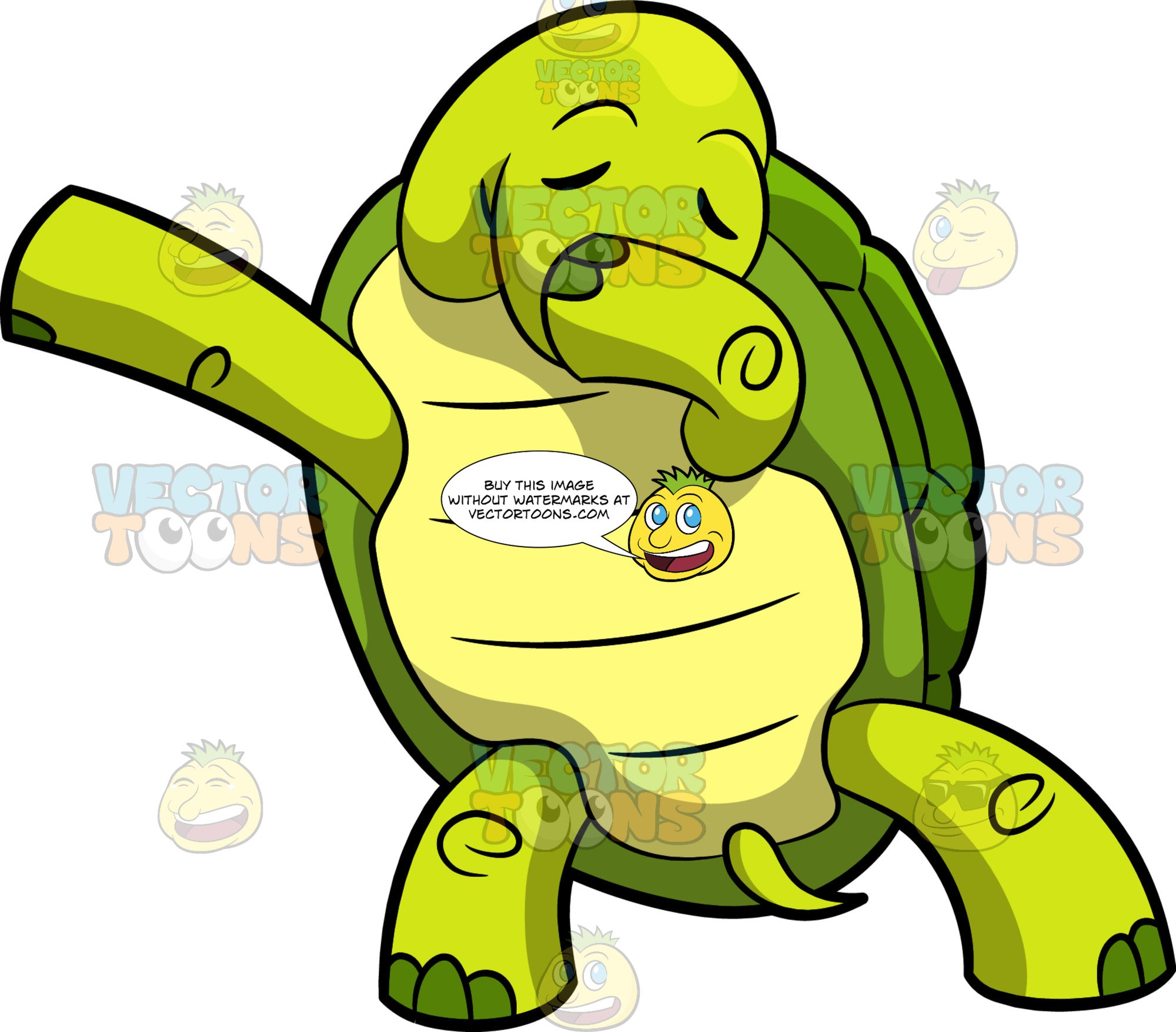 Dabbing Turtle Clipart Cartoons By Vectortoons