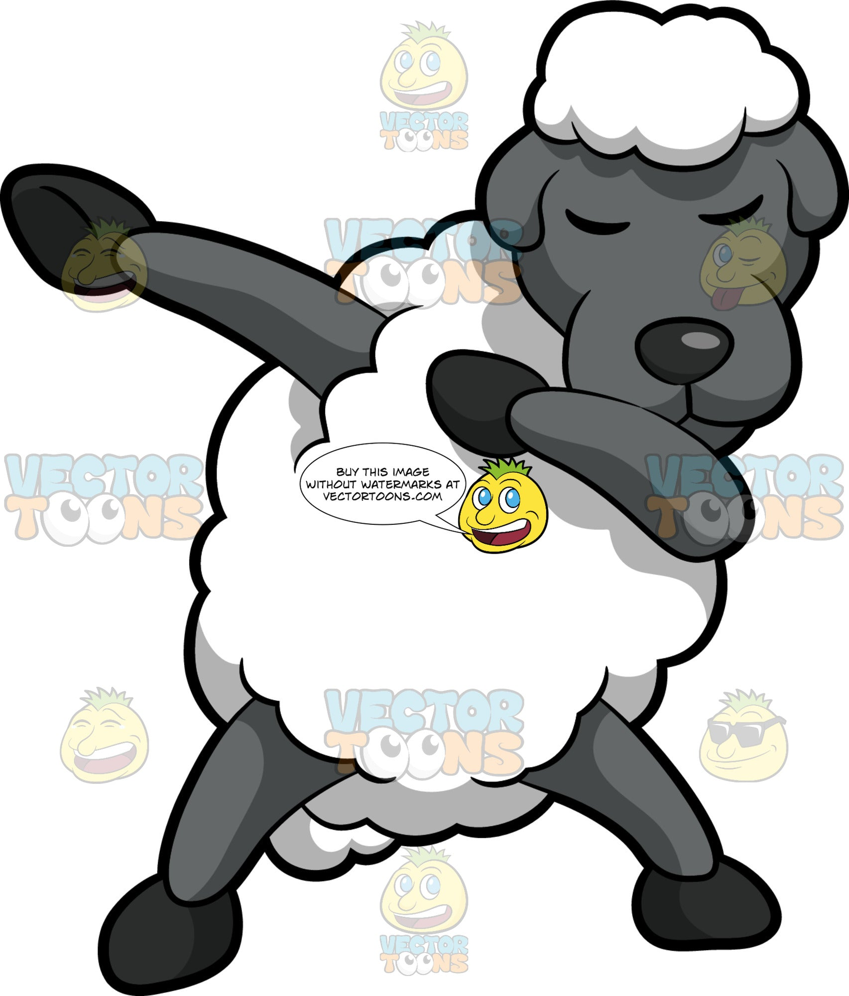 Dabbing Sheep