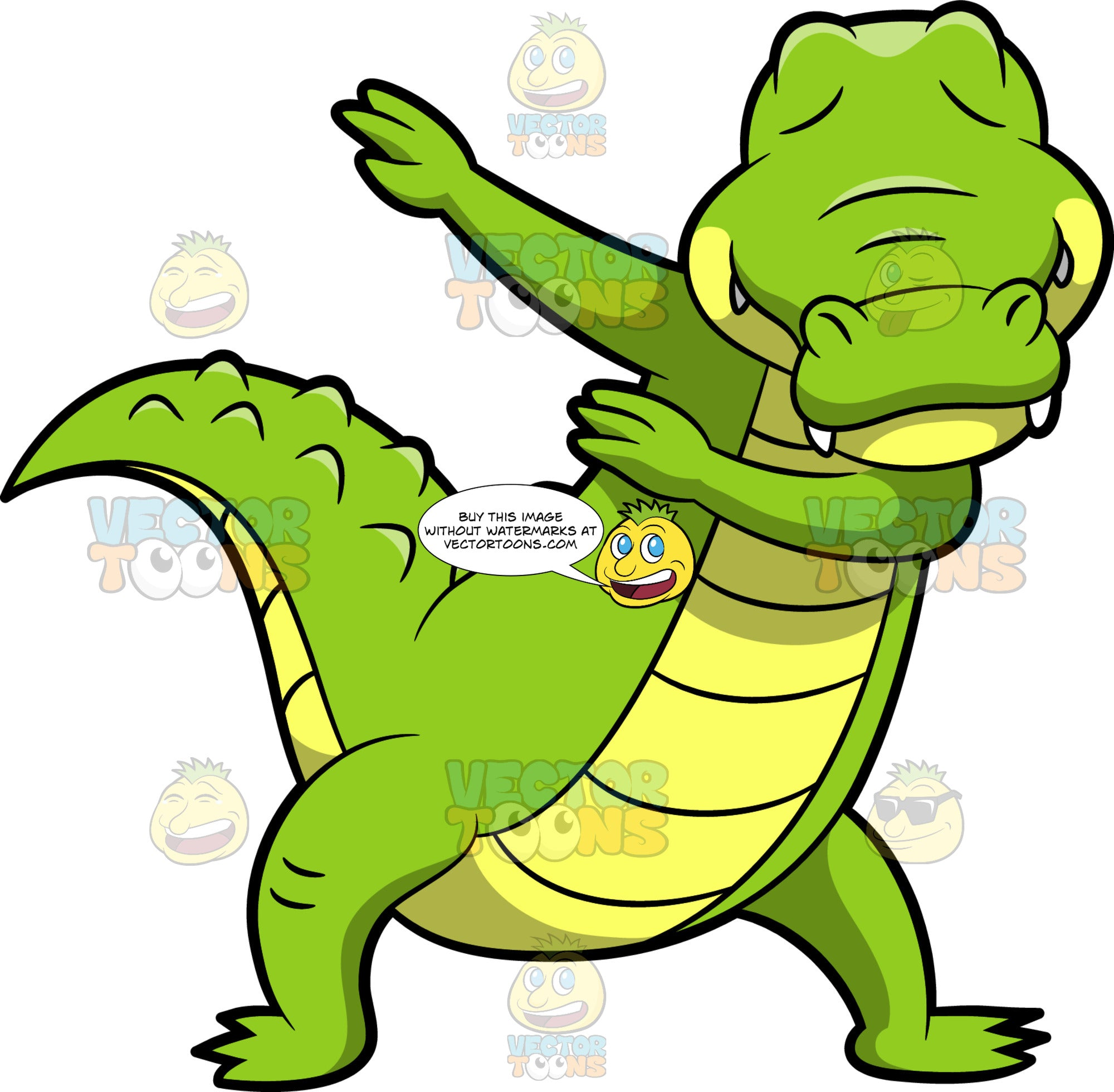 A Dabbing Alligator – Clipart Cartoons By VectorToons - photo#21