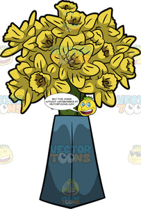 A Bouquet Of Daffodils In A Vase