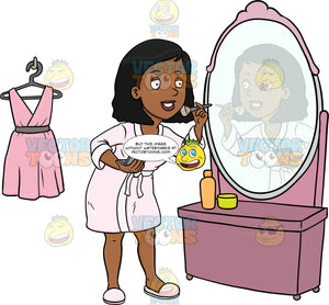 A Black Woman Prepares Herself For A Date