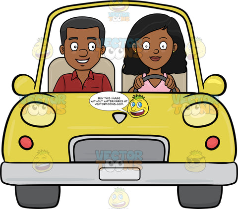 A Black Woman Driving Her Boyfriend Around The Neighborhood