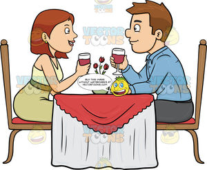 A Couple Enjoying A Romantic Date In A Restaurant