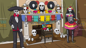 Day Of The Dead Decoration Background