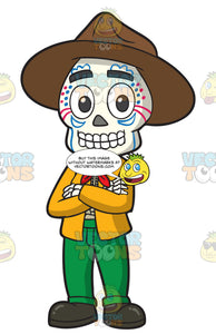 Day Of The Dead Skeleton Of A Mexican Guy