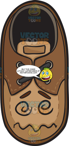 Dazed And Confused Brown Shoe Emoji