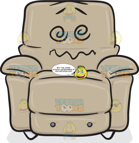 Dazed And Confused Stuffed Chair Emoji