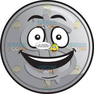 Delighted Silver Coin Emoji