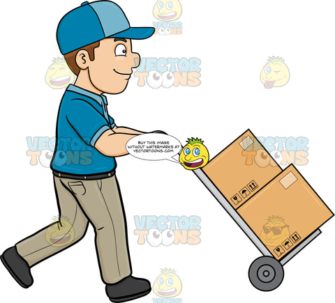 A Delivery Man Transporting Multiple Packages
