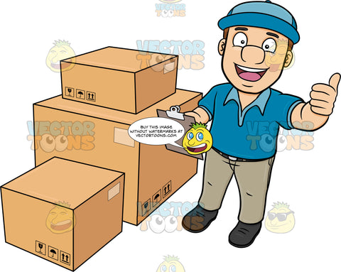 A Delivery Man Finishing His Package Inventory
