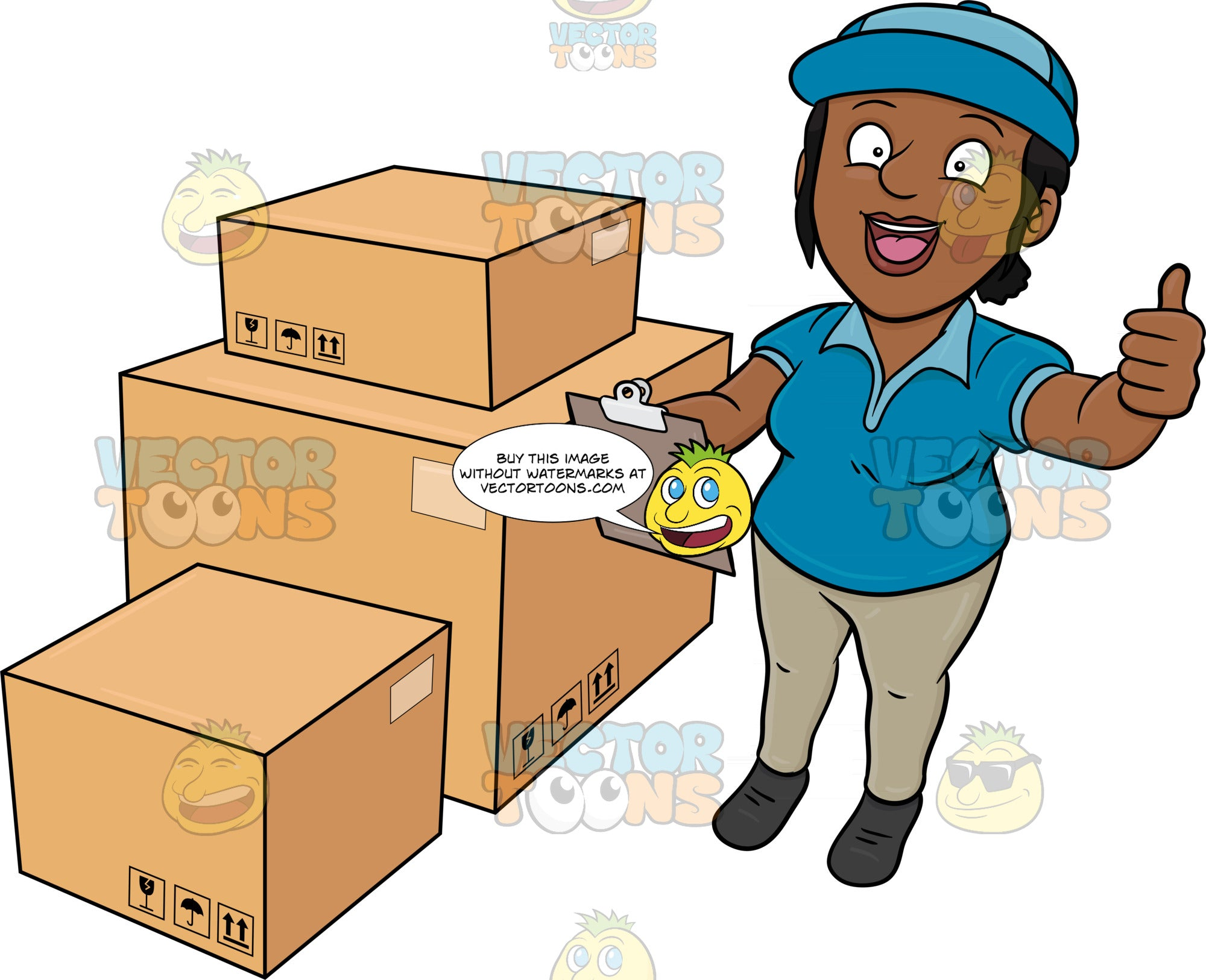 A Black Delivery Woman Finishing His Package Inventory