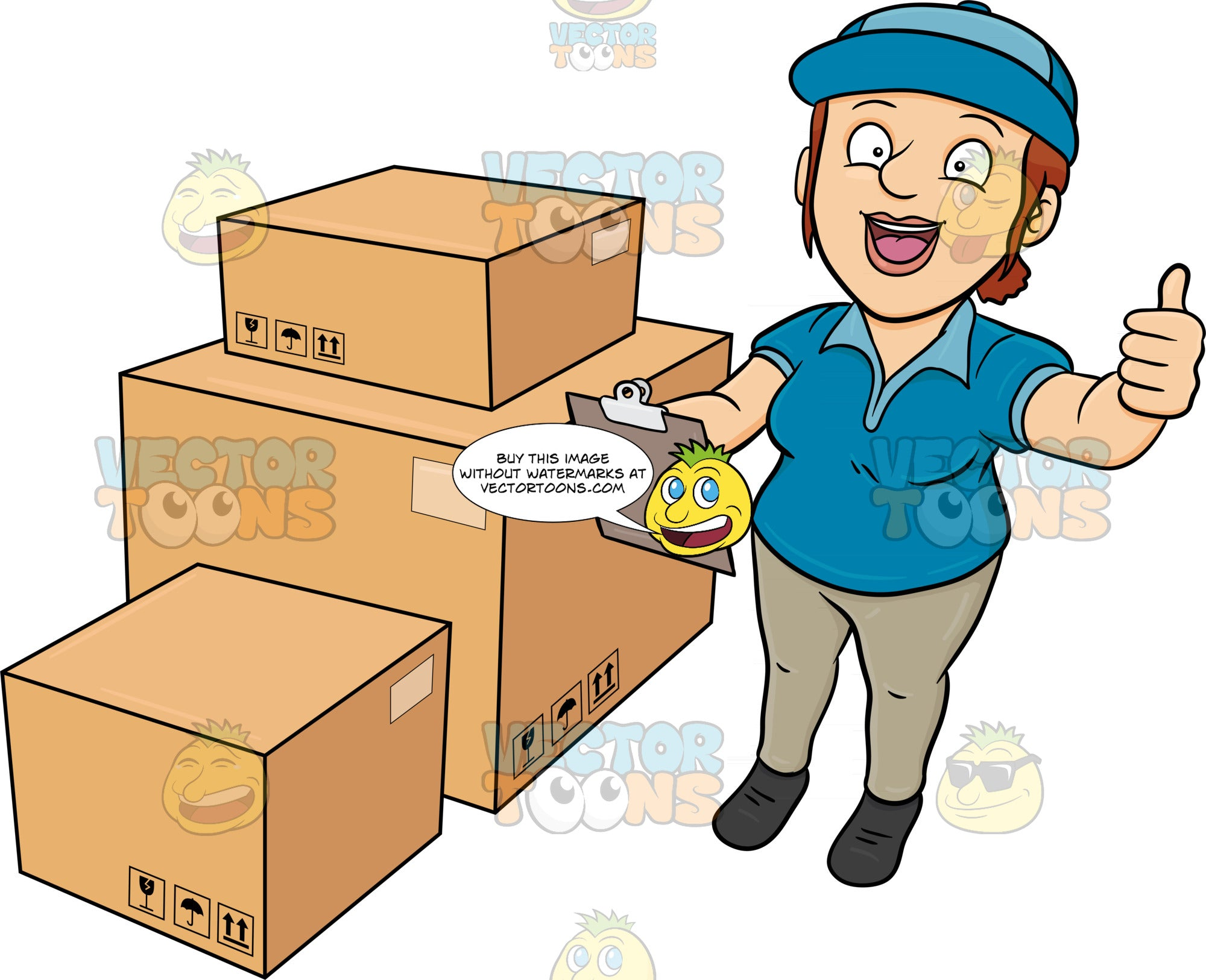 A Delivery Woman Finishing His Package Inventory