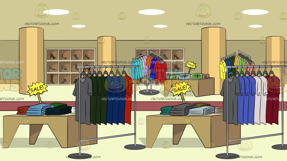 Department Store Clothing Sale Background Clipart